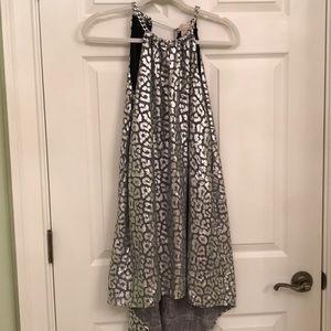 MICHAEL KORS Women's dress animal print silver SzP